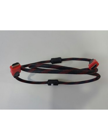 Flaxtron HDMI/HDMI 1.4V 1.5M Monitor Cable [Gray]