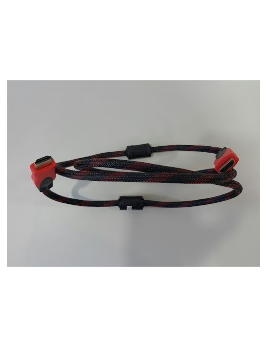 Flaxtron HDMI/HDMI 1.4V 1.5M Monitor Cable [RED]