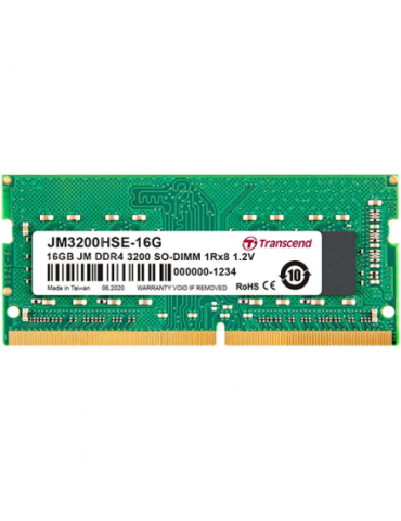 Transcend JetRam 16GB kit (16GBx1) DDR4 3200Mhz SODIMM Laptop Memory