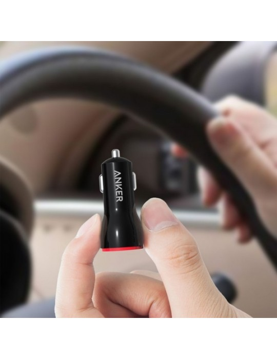 Anker USB Car Charger PowerDrive 2 (24W / 4.8A, 2 Ports) for [iPhone 6 / 6 Plus, iPad Air 2 / mini 3, Galaxy S6 / S6 Edge]