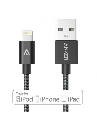 Anker PowerLine Lightning (3ft) Apple MFi Certified to USB Cables [Space Gray]
